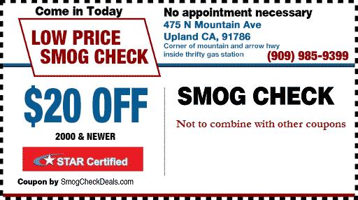 $20 Smog Check Coupons - STAR Smog check - Upland