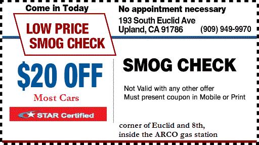 California Gold Star Smog Test Location 67